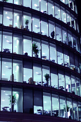 Empty offices (Che-burashka) Tags: windows building night evening office pattern empty business similar figure tables late worker lonely identical repetion unified gettyskn gettyskngroup