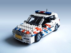 Dutch Police VW Golf (1) (Mad physicist) Tags: car vw golf lego police 122 politie