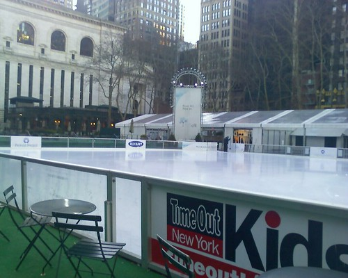 a cold morning to you from The Pond skating rink at Bryant Park in NYC.