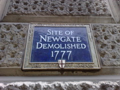Photo of Newgate blue plaque
