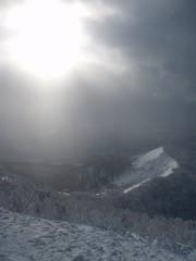 貫気山の山頂より南を見渡す