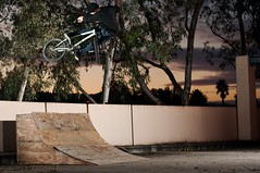 Mikey Babbel Lookback (brandonmeans) Tags: california wood trees sunset lights bmx euro secret garage parking pipe brandon bikes mikey southern riding biking quarter coalition temecula means the lookback snafu boos haro strobes babbel seeuentee
