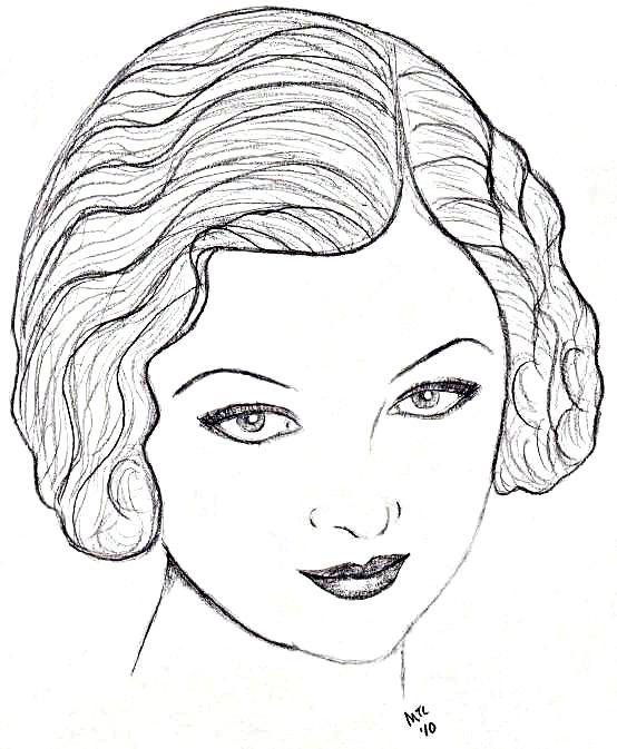 Myrna Loy sketch 01.27.10