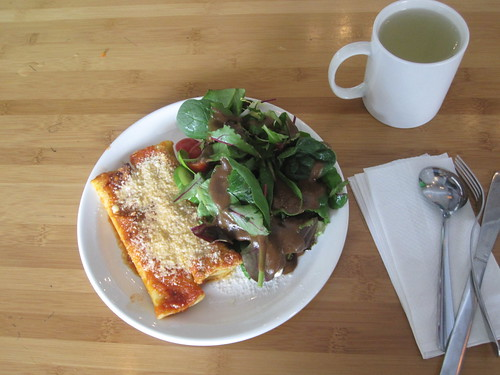 Manicotti, salad, lemonade - $6