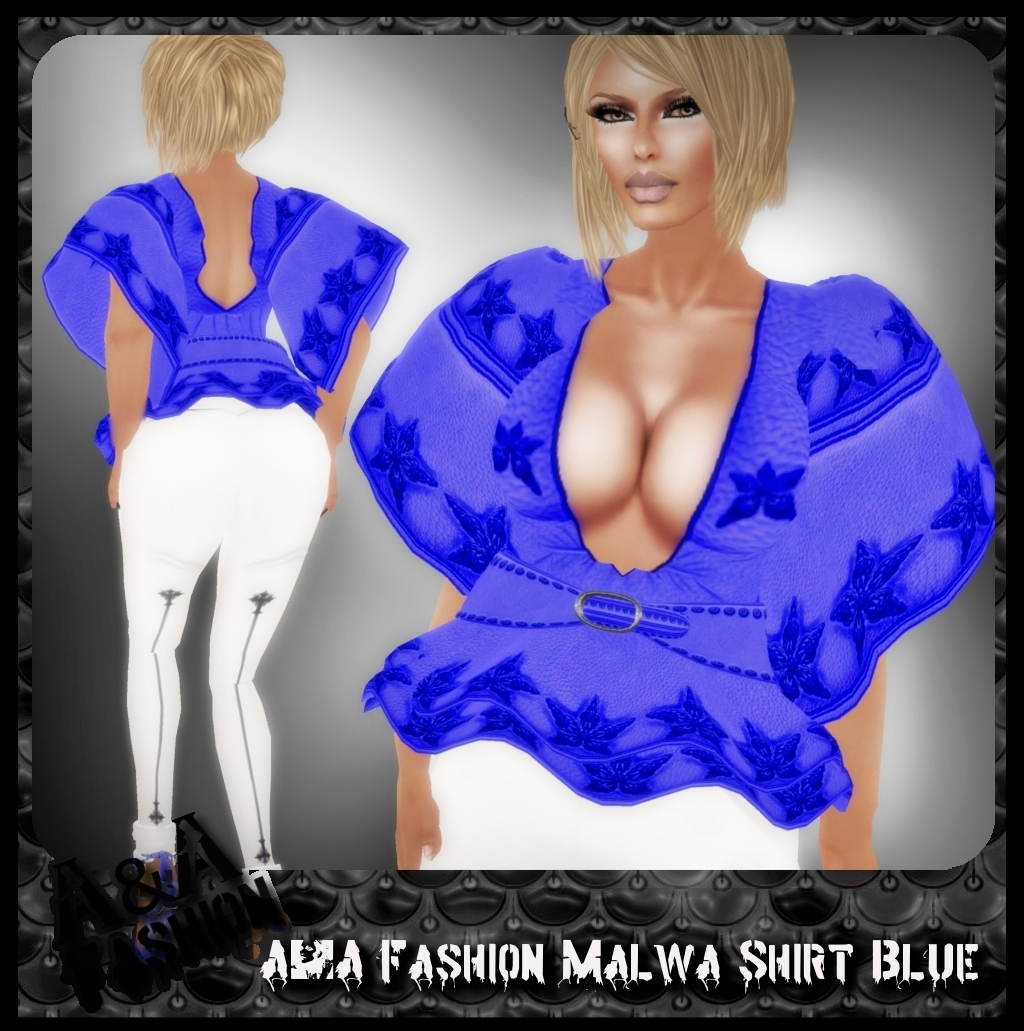 A&A Fashion Malwa Shirt Blue