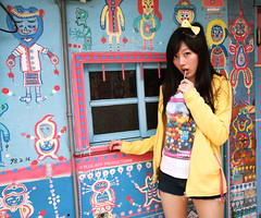 Nina (BlueJeff) Tags: life people woman baby cute girl beautiful beauty portraits asian pretty sweet album chinese taiwan babe taichung nina lovely 台灣 生活 可愛 台中 人像 美女 正妹 漂亮 攝影 女生 寫真 canoneos5ddslrcamera 彩繪街 小妮娜