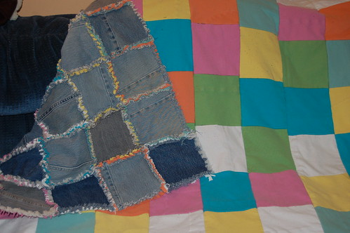 jean and tshirt rag quilt (1)
