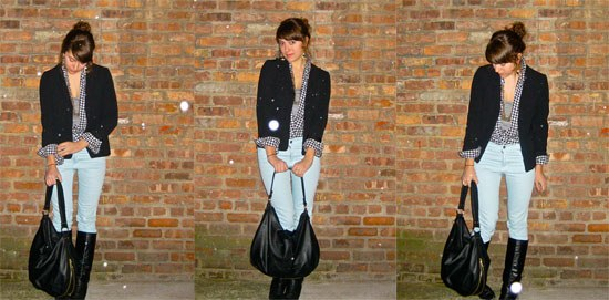 black and white check shirt-blue jeans-three ways
