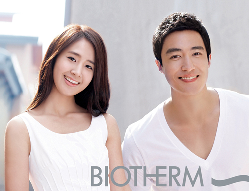 [Image] New Biotherm CF Pic of SNSD YuRi and Daniel Henney