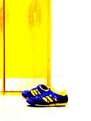 blue shoes (tsaaby) Tags: architecture copenhagen dance dans kbenhavn nordvest arkitektur bispebjerg dancehouse witraz dansinordvest dansehus