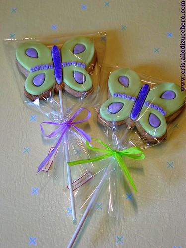 butterfly lollipop cookies