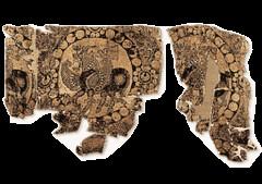 Winged horses Sassanian 7thc (julianna.lees) Tags: ancient silk shroud textiles sassanian doubleheaded sassanid suaire