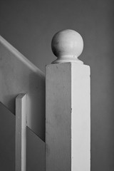Bannister in Black and White (Craig Jewell Photography) Tags: blackandwhite white monochrome ball wooden iso400 interior staircase banister knob bannister f35 canoneos30d 180sec ef180mmf35lmacrousm cpjsm craigjewellphotography
