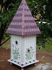 Lavender Cottage (floyfreestyle) Tags: cottage lavender birdhouse vitreousglasstile vitreousglasstilemosaics2010birdistheword