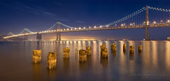 San Francisco Bay Bridge (Stephen Oachs (ApertureAcademy.com)) Tags: sanfrancisco california nightphotography bridge beautiful bay panoramic baybridge embarcadero pylons nodal scottdavis stephenoachs stephenoachscom apertureacademy apertureacademycom