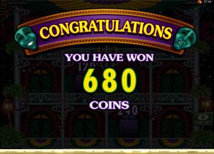 free Mardi Gras Fever gamble bonus feature