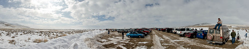 rocket parking lot Panorama