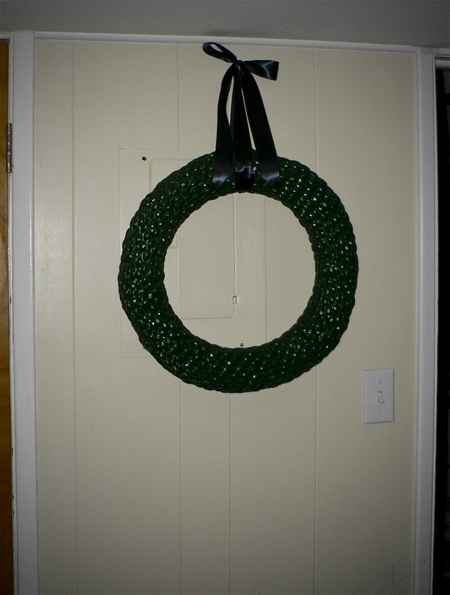 almond wreath painted st patricks day ribbon hanging finished