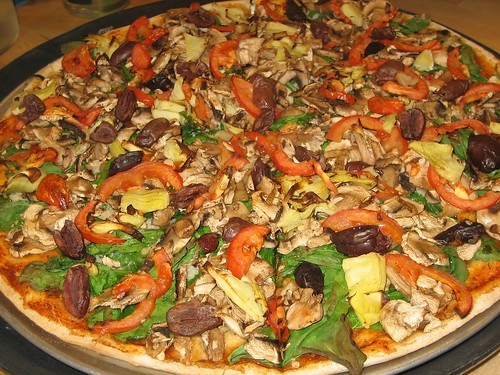 primavera pizza at plush