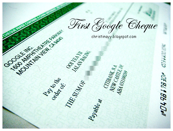 My First Google Cheque