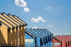 roofs in Y, B and R (Matthieu Verhoeven Fotografie ) Tags: blue red house yellow nikon blauw matthieu roofs huis geel rood daken purmerend verhoeven d80 weidevenne wwwmatthieuverhoevennl