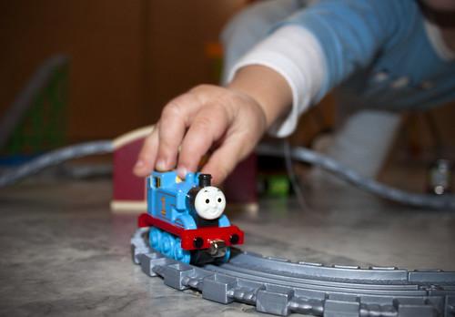Un tren de juguete