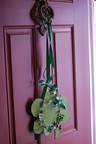 St. Patty's Day front door decor