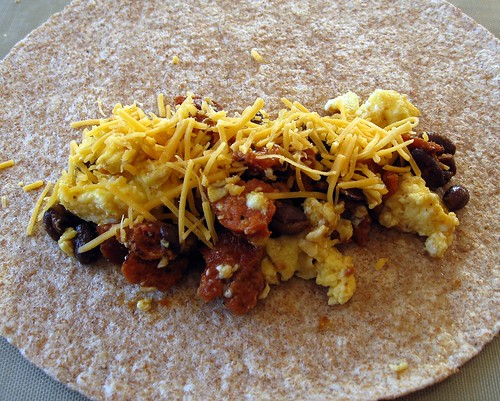 dishmaps chorizo and egg breakfast burrito bacon and egg breakfast ...