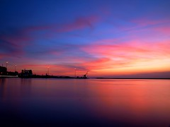Long Exposure Sunset @ 40 (Ilias Orfanos) Tags: longexposure pink blue sunset red sea sky clouds port landscape olympus greece patras hoyand4 hoyand8 saariysqualitypictures mygearandme mygearandmepremium mygearandmebronze mygearandmegold