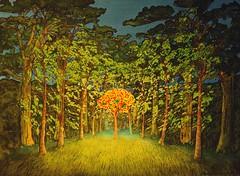 rowan tree glade at night (stan bonnar) Tags: sculpture art philosophy publicart artworks artvideo britishart socialart scottishartists scottishart artandphilosophy contextualart stanbonnar artinsocialcontexts