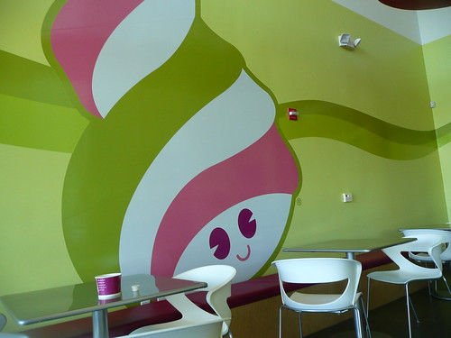 menchie's yogurt has an adorable logo.