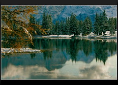 Serenity Within and Without At Lago di Antorno (our cultural archive) Tags: italien winter italy lake snow mountains nature water reflections landscape italia reflexions dolomites cate gmt copenhaver flickrdiamond absolutelystunningscape lagodiantorno