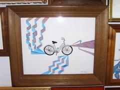 Bike (mark damrel) Tags: relative matter kaleid gallery mark damrel art paintingwow stuff weird odd painting ink sketch baby head old dude skates fecalface