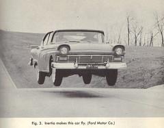 Flying car (OnFoot4now (Didi)) Tags: car book science 1950s blackwhitephoto vintagebookillustration