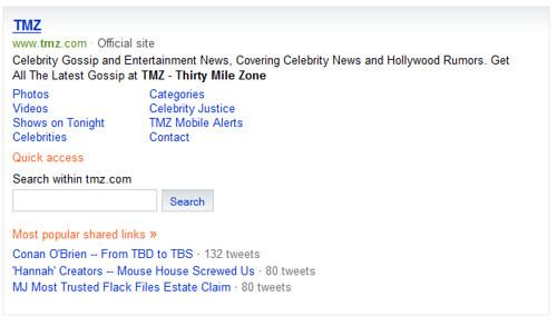 Twitter in Bing