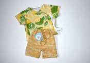 Lemon Lime set - merino shorties & wrap shirt - newborn