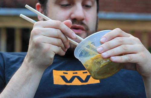 Noodle eating noodles