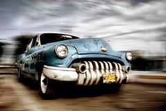 Blues in My Mind.. (u c c r o w) Tags: varadero panning cuba cuban vintage car automobile old classical blue blues