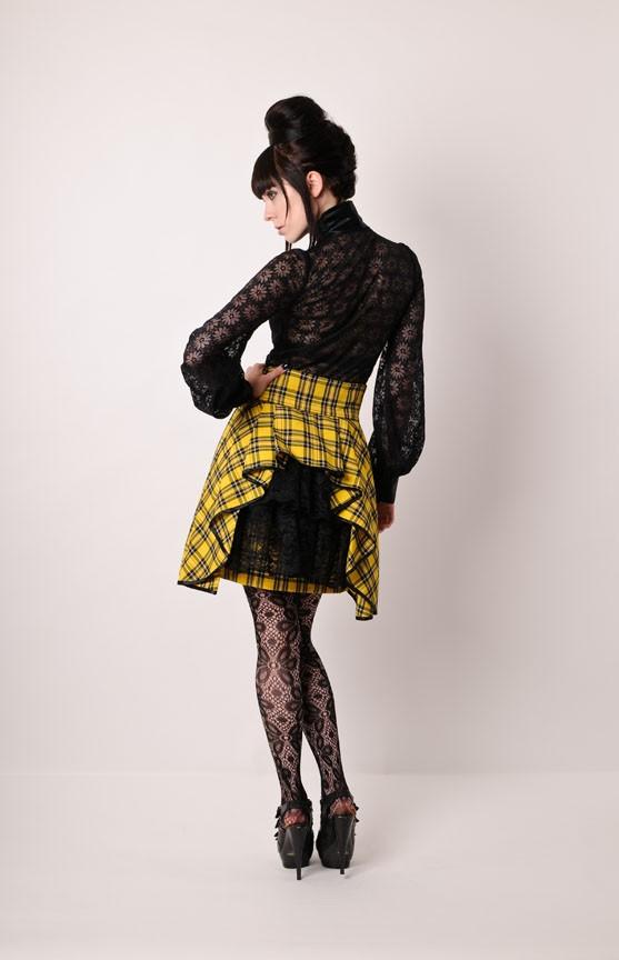 Steampunk plaid bustier miniskirt by PinarEris 3