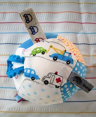 ball for baby boys (b.klewinghaus) Tags: blue boy baby cars ball toy puzzle cotton patchwork