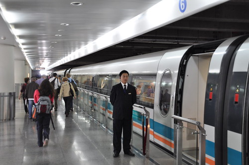 Maglev on platform