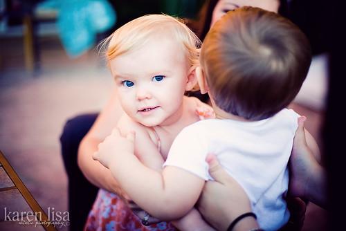 Cousins hugging - babies K &Z