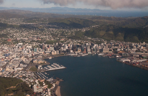 Aerial photo of Wellington