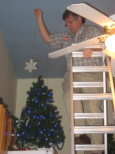 hanging the ceiling snowflakes