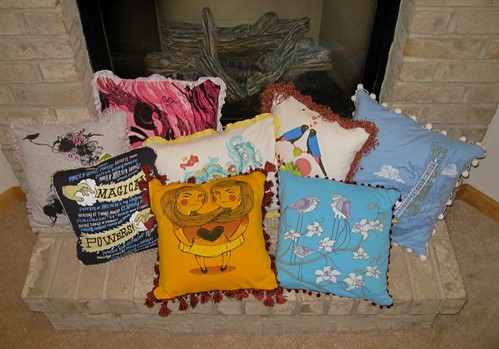 Craft fair stuff: Pillows!
