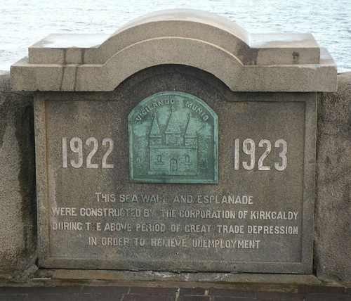 Plaque on Sea Wall.