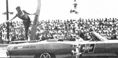 Linda Vaughn was seen by millions at the drag strips (torinodave72) Tags: girl june golden nikki phillips f1 linda nascar firebird marsha miss vaughn pure bennett cochran shifter hurst nhra usac ahra