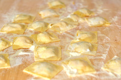 raviolis finished