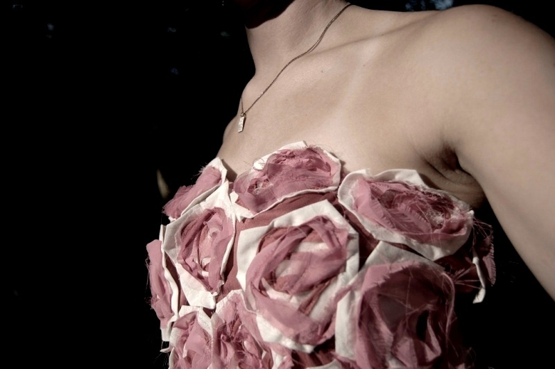 Fendi inspired fabric roses dress by Stacie