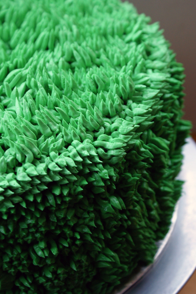 look at that lovely green buttercream grass...!